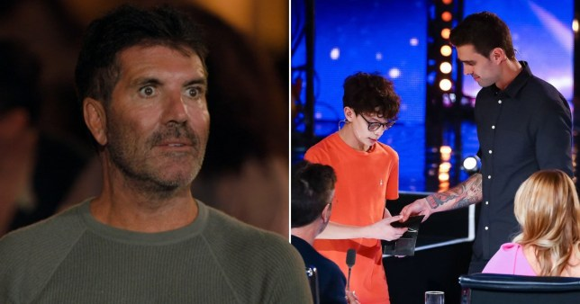Simon Cowell and James Piper.