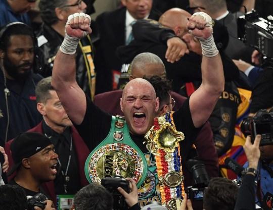 Tyson Fury was crowned WBC heavyweight champion in Las Vegas.