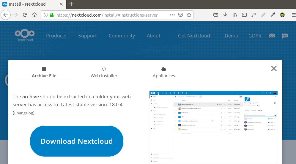 Install NextCloud to Ubuntu 20.04 with Apache (LAMP Stack)