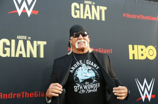 World War legend Hulk Hogan at the premiere of the film Andre the Giant HBO.