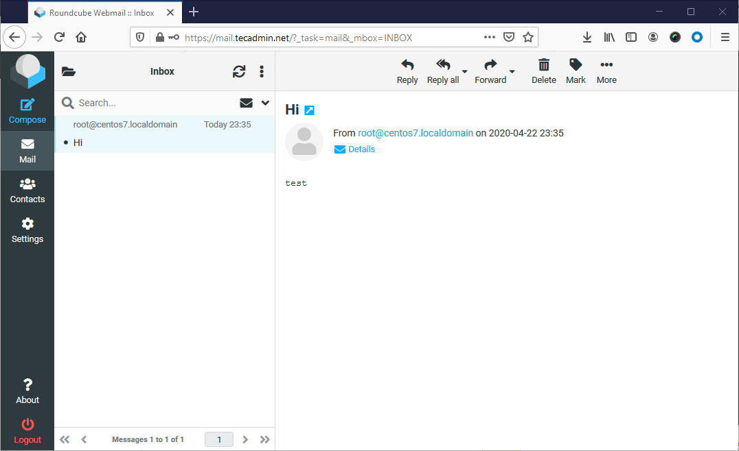 How to set up Roundcube Webmail on CentOS 8