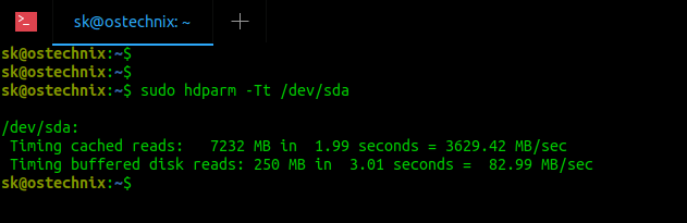 How to Find Data Transfer from Hard Disk Speed In Linux