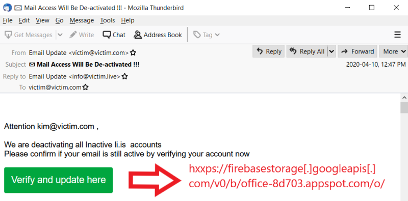 Phishing in a Bucket: using the Google Firebase Storage