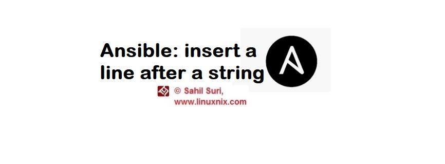 Insert a line after a string using the lineinfile module