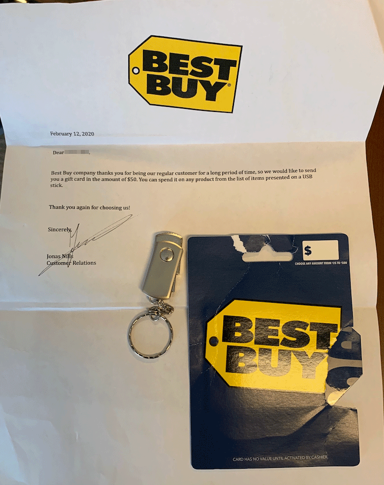 Would you like to exchange your security for a gift card?