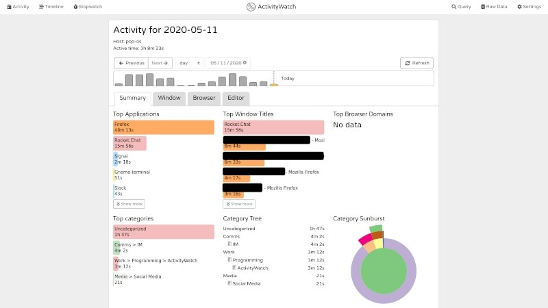 Track Your Screen Time on Linux with ActivityWatch