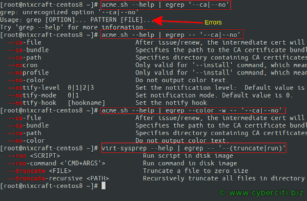 Search Multiple Words / String Pattern Use grep command
