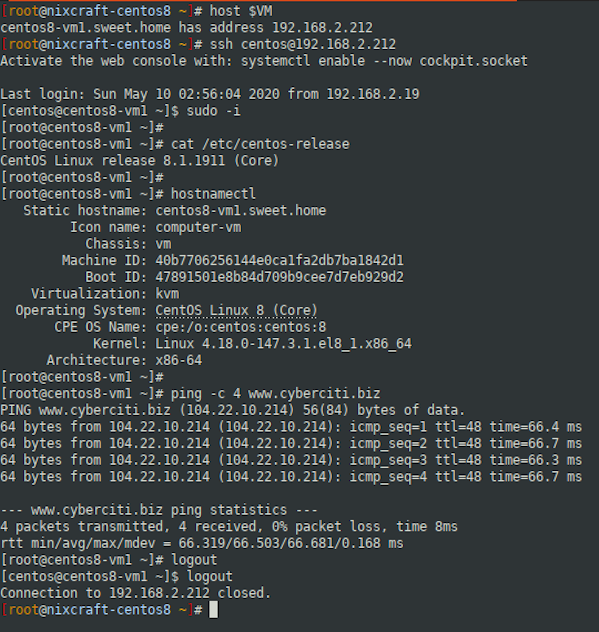 How to install KVM to CentOS 8 Headless Server