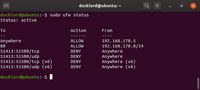 Disable management of the Ubuntu firewall rules.