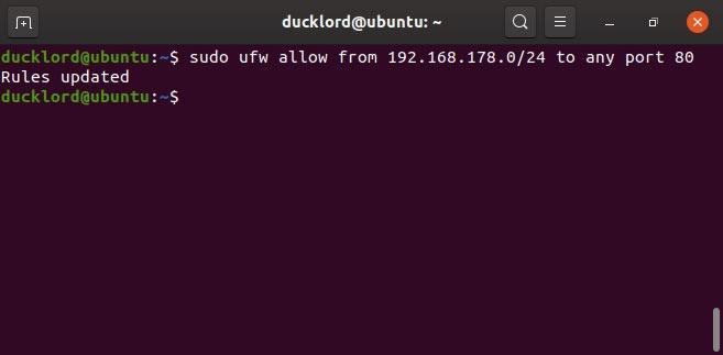 Disable Ubuntu Ips firewall management