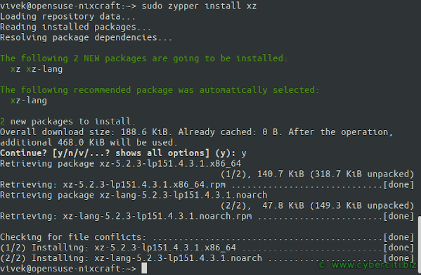 Extract the tar.xz files from Linux