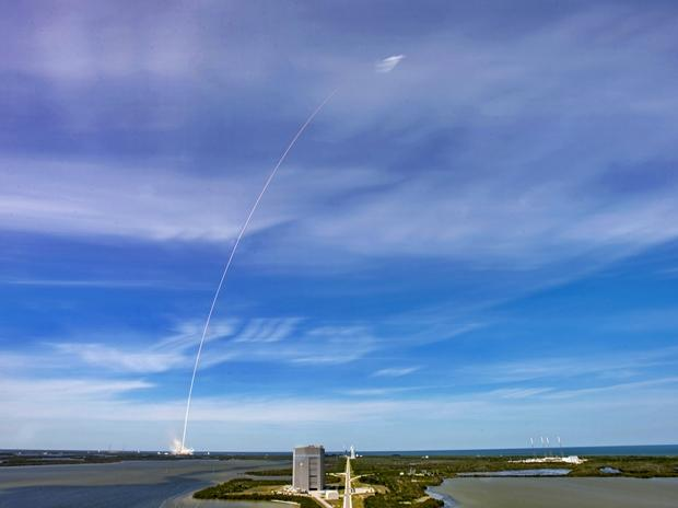 Falcon-9 during one of its test launches
