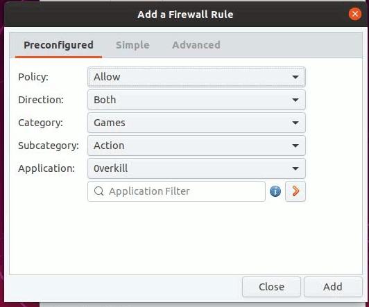 Gufw Firewall Custom Rules 1