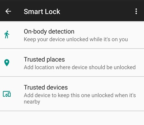 How to avoid Android Smart Lock