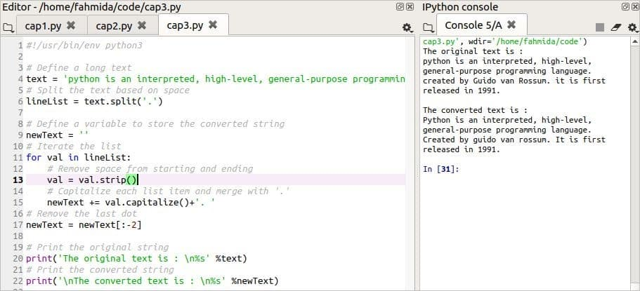 How to capitalize the first letter of the python string and other uses of the capitalize) (function – Linux Hint