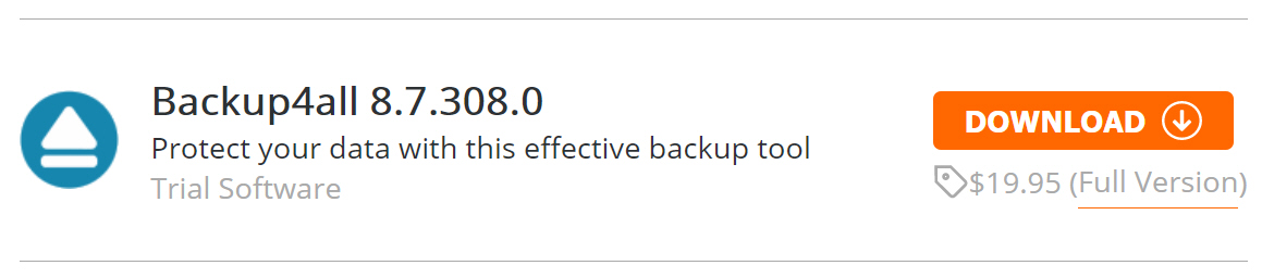 FBackup 8.7 released with iTunes and Spotify backup plugin support — Backup4All 8.7 Professional is 67 percent off MSRP.