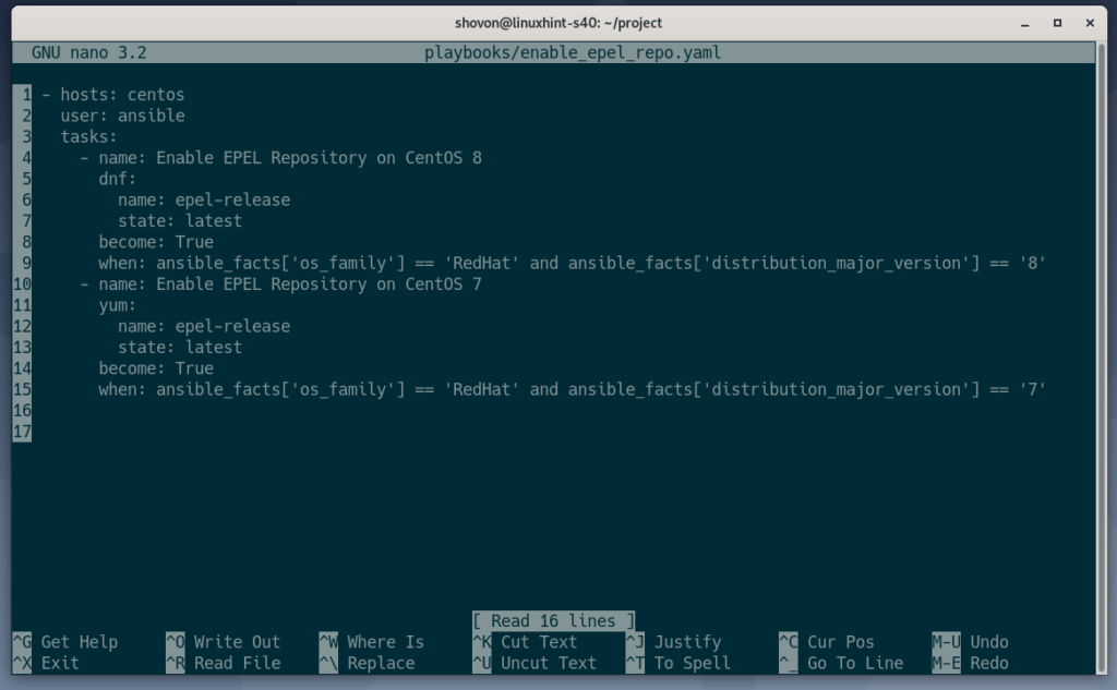 How to enable the EPEL CentOS repository with Ansible – Linux hint