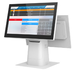 Ubuntu-friendly POS system has up to two 15.6-inch screen sizes.