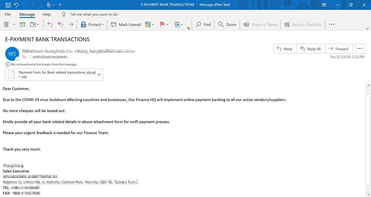 Microsoft warns COVID-19 phishing to spread info-stealing malware