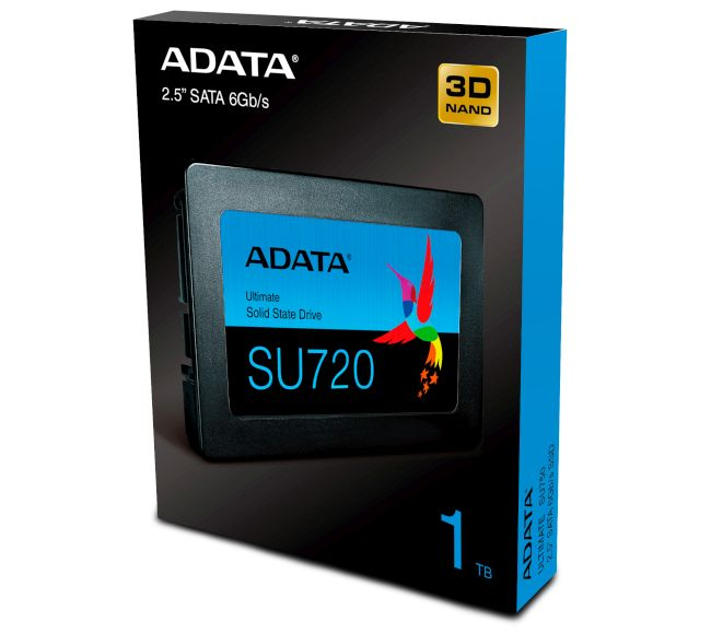 ADATA SU720 SATA SSD is a drop-in upgrade for all maniacs that still use hard disk drives.