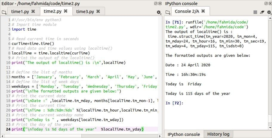 How to use python time.time() method