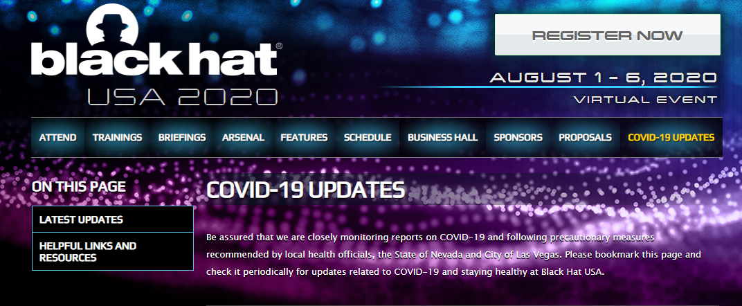 Black Hat & DEF Security Conferences Go Virtual Due to COVID-19