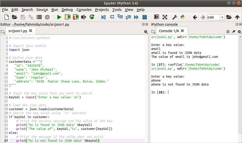 How to search for JSON data using python – Linux hint