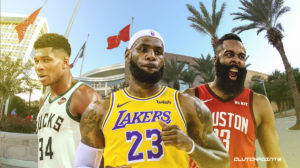 Lebron James, Jiannis Antetocumpo, James Harden, Houston.