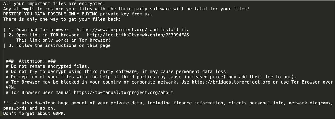 LockBit ransomware seamlessly encrypts 225 systems