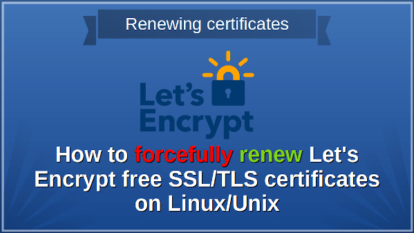 Forcefully re-encrypt the certificate on Linux or Unix