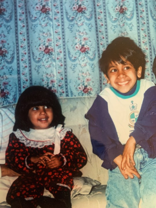Maria, on the left, in the picture with her brother Daniel, on the right, who unfortunately died of a bone marrow failure at the age of seven.