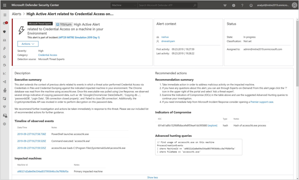 Microsoft Threat Protection leads real-world detection in the evaluation of MITRE ATT&CK