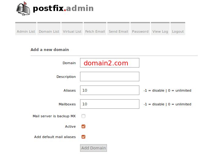How to host multiple mail domains on Ubuntu in PostfixAdmin