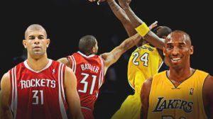 Shane Battier, Rockets, Kobe Bryant, Lakers.