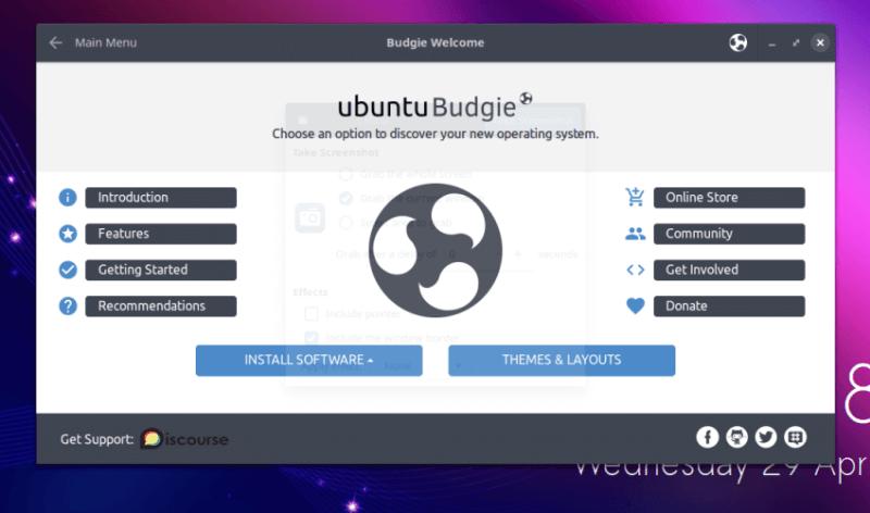 Ubuntu Budgi Welcome
