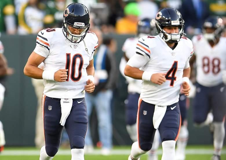 Bear quarterbacks Mitchell Trumpetsky and Chase Daniel.