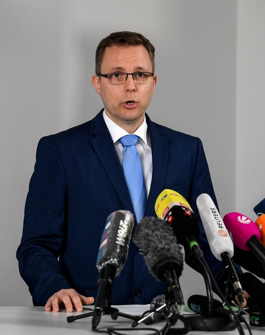 Grand Prosecutor Hans Christian Walters addresses the media at a press conference on the Madeleine McCann case.