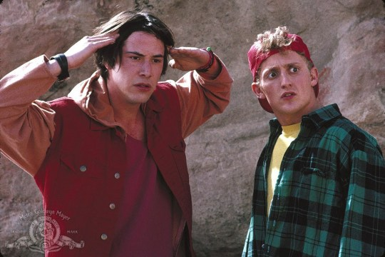 Orion Pictures The Grim Reaper is back for Bill and Ted 3.