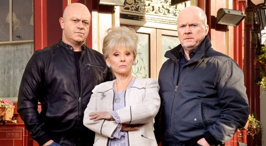 Peggy Grant and Phil Mitchell.