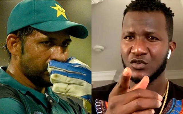 Sarfras Ahmed and Darren Sammy