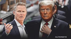 Steve Kerr, Krieger, Donald Trump.