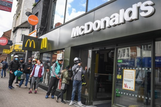 ...the people lining up outside McDonald's...
