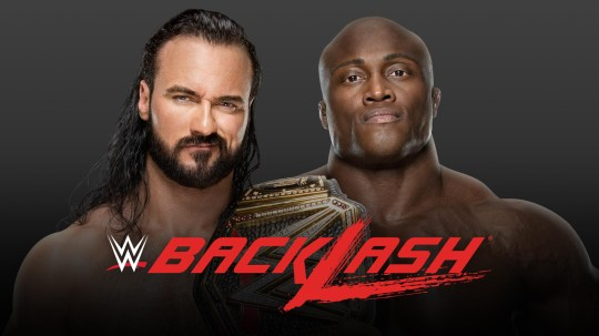 WWE poster of Drew McIntyre and Bobby Lashley.