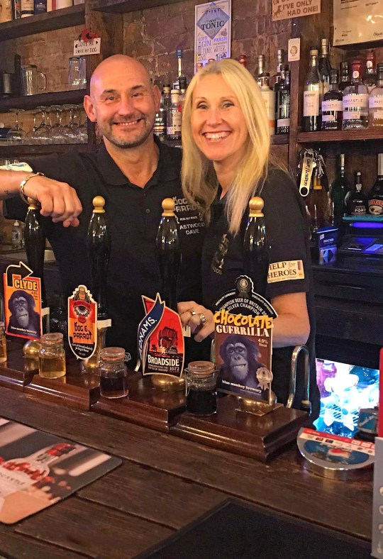BEHIND THE BAR: David and Kathryn Boam welcome back the regulars