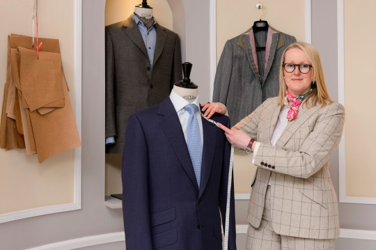 WELL SUITED: Bespoke tailor Kathryn Sargent