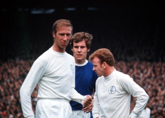 Jack Charlton playing for Leeds United