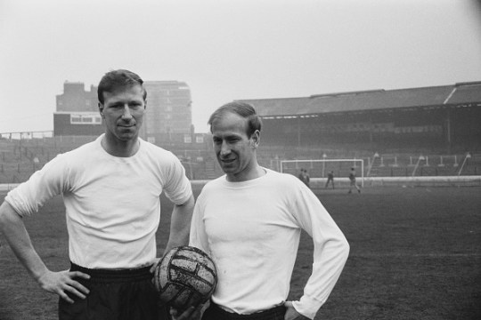 Jack (L) and Bobby Charlton