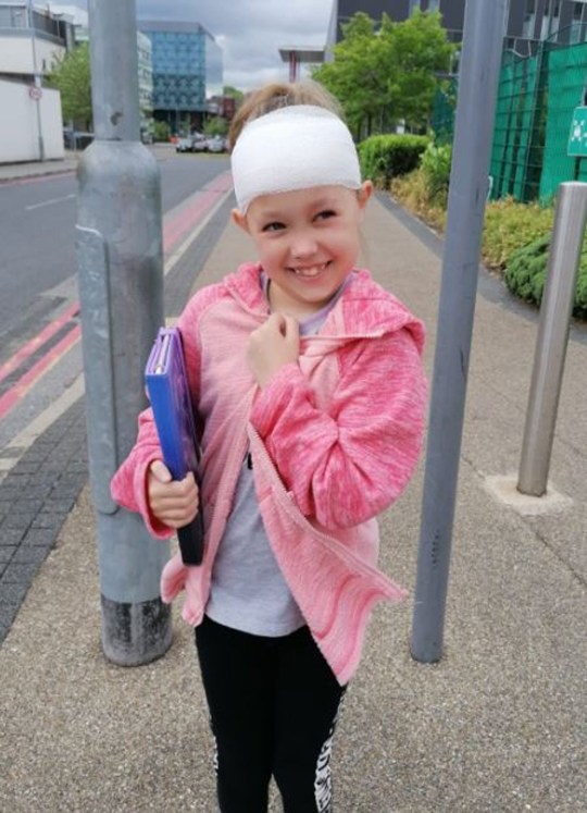 Hollie on the day she was discharged (PA Real Life/Collect)
