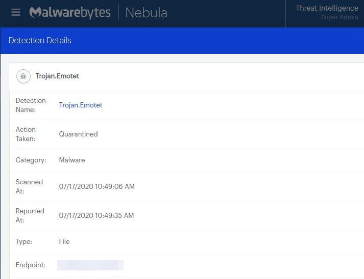 It's Baaaack: Public cyber enemy Emotet is back-Malwarebytes Labs